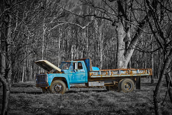 Photograph - Old Blue by Ron Pate