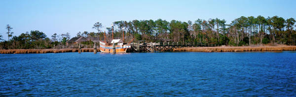 Roanoke Wall Art - Photograph - Old Boat At Coast, Roanoke Marshes by Panoramic Images