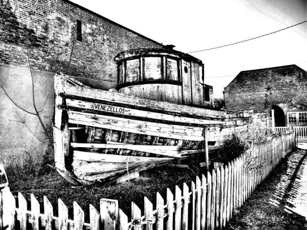 Old Boat In Apalachicola Art Print