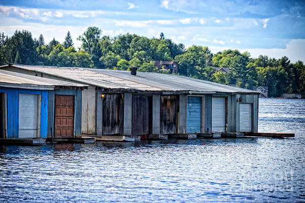 Photograph - Old Boathouses by Les Palenik