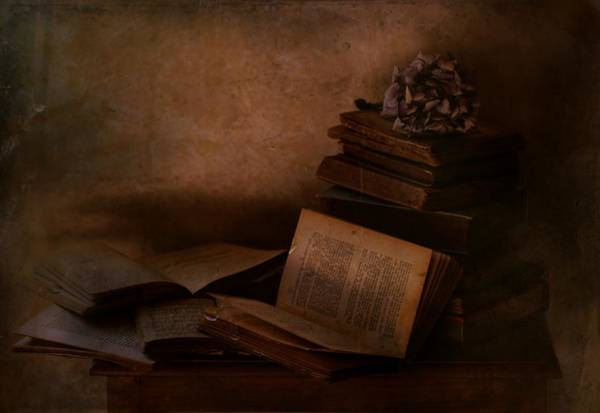 Book Photograph - Old Books by Delphine Devos