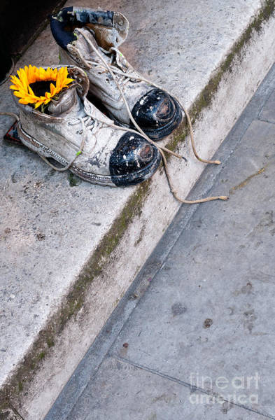 Photograph - Old Boots by Rick Piper Photography