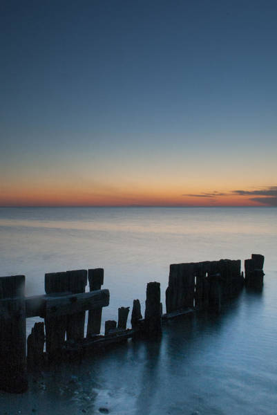 Photograph - Old Breakwater by Steve Myrick