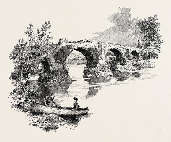 Old Style Drawing - Old Bridge Of Forth, Stirling, Gaelic Sruighlea by Scottish School