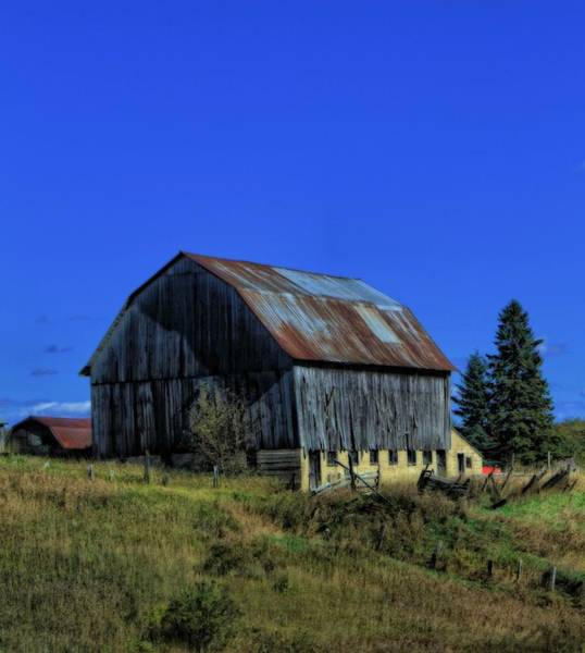 Photograph - Old Broken Down Barn In Ohio by Dan Sproul