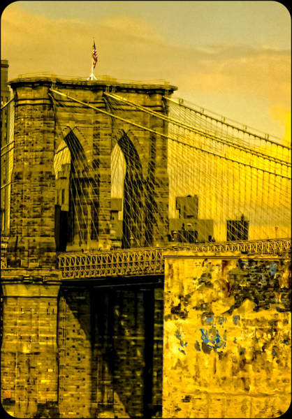 Photograph - Old Brooklyn Bridge 3 by Frank Winters