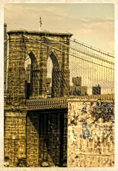 Photograph - Old Brooklyn Bridge II by Frank Winters