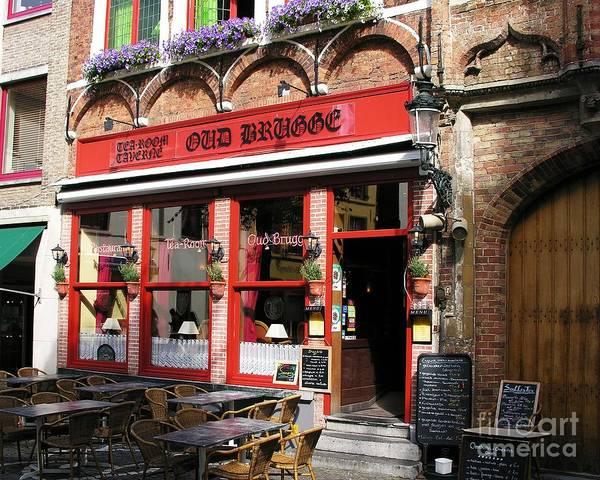 Photograph - Old Brugge Tavern by Mel Steinhauer