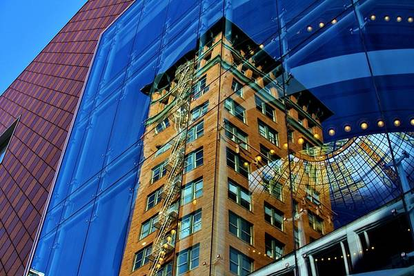 Fantasy Wall Art - Photograph - Old Building Meets New by Tony Castle