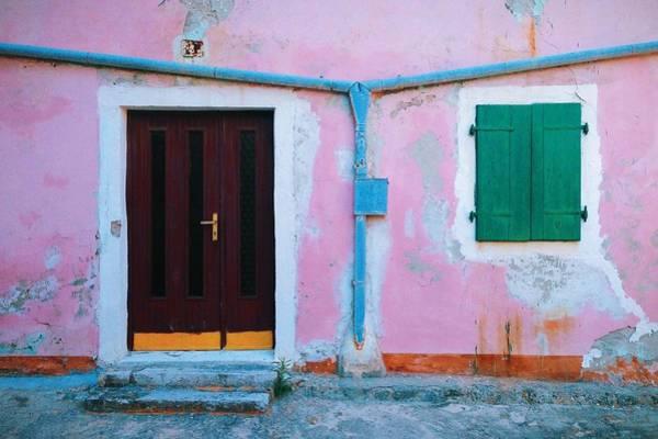 Losinj Photograph - Old Building With Closed Door And Window by Dinko Cepak / Eyeem