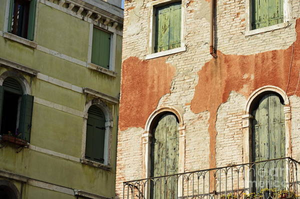 Wall Art - Photograph - Old Buildings Facades by Sami Sarkis