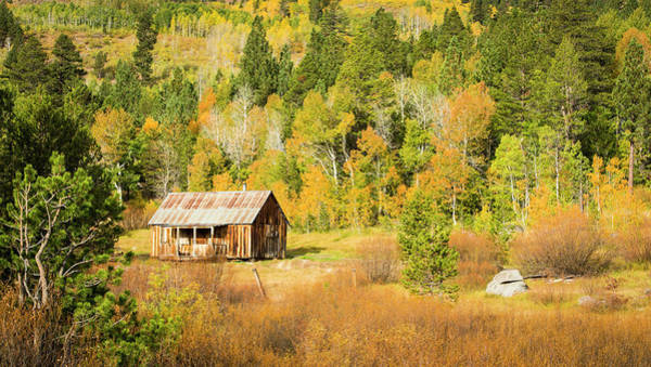 Wall Art - Photograph - Old Cabin And Fall Colors, Hope Valley by Josh Miller