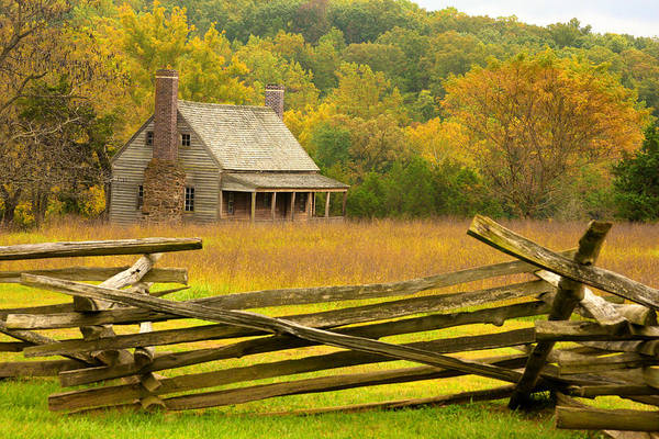 Photograph - Old Cabin At Appomattox by Emanuel Tanjala