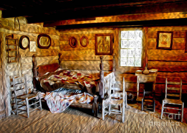Wall Art - Photograph - Old Cabin In The Woods by Paul W Faust -  Impressions of Light