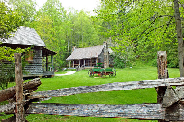 Old Cabins At The Cradle Of Forestry Art Print