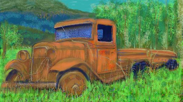 Painting - Old Canadian Truck by Hidden  Mountain
