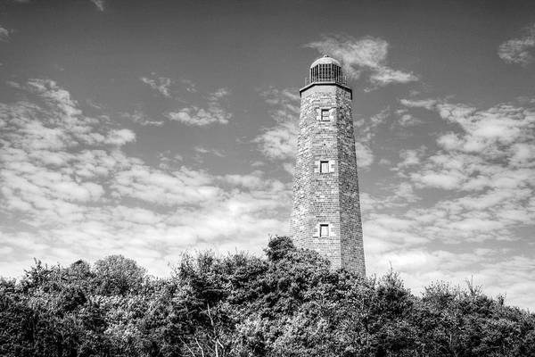 Virginia Lighthouse Photograph - Old Cape Henry In Black And White by JC Findley