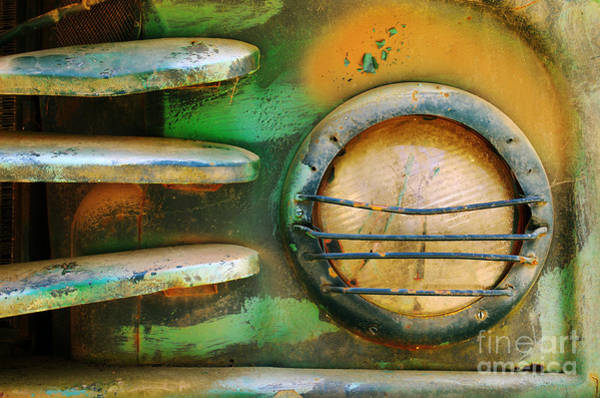 Neglected Wall Art - Photograph - Old Car Headlight by Carlos Caetano