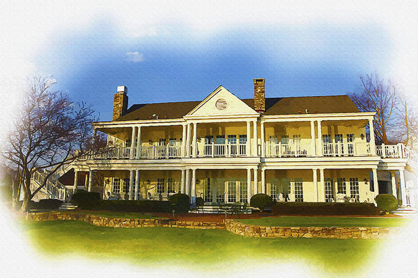 British Open Digital Art - Old Carolina Golf Club House by Don Kuing