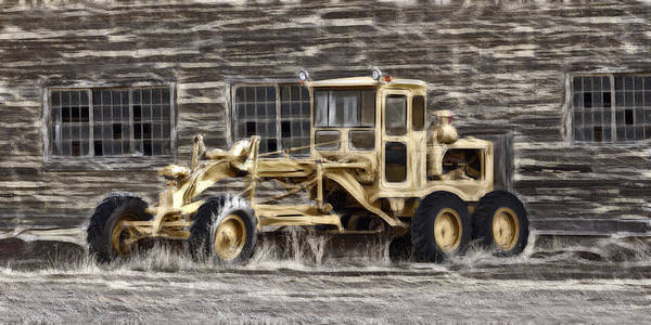 Wrecking Yard Photograph - Old Cat Grader by Wes and Dotty Weber