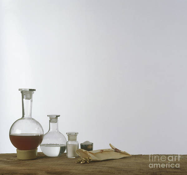 Photograph - Old Chemistry Equipment by Clive Streeter and Dorling Kindersley and Science Museum London