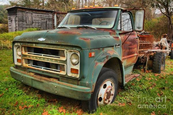 Photograph - Old Chevy Truck by Adam Jewell