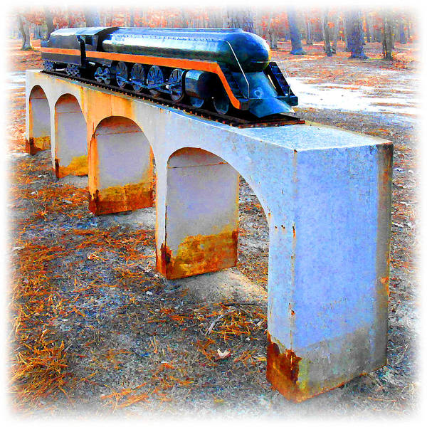 Digital Art - Old Choo-choo Train Model by K Scott Teeters