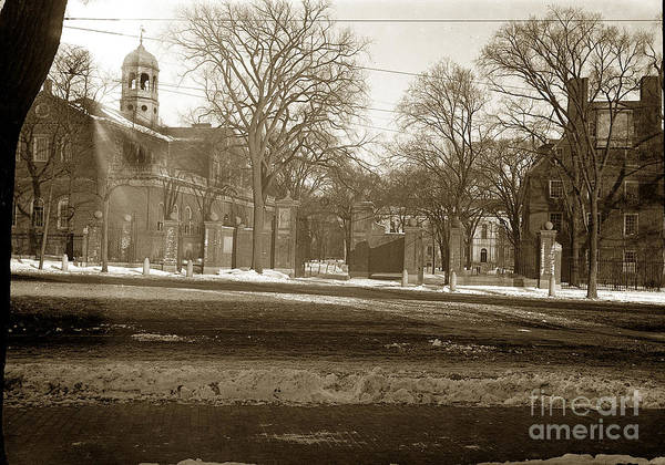 Photograph - Old Church Boston Massachusetts Circa1900 by California Views Archives Mr Pat Hathaway Archives