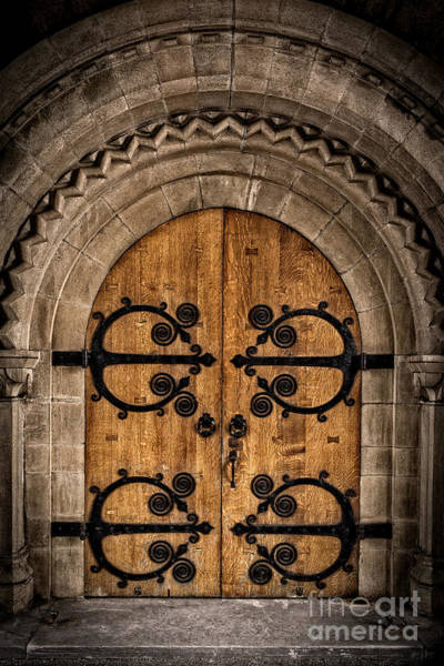 Old Church Door Art Print