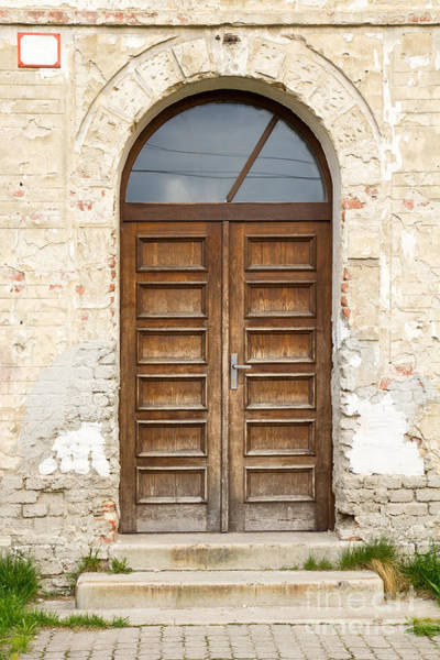 Photograph - Old Church Door by Les Palenik