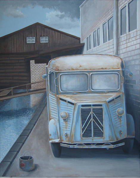 Wall Art - Painting - Old Citroen Van by Stuart Swartz