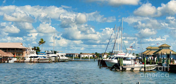 Photograph - Old City Dock And Boats In Naples Florida by Les Palenik