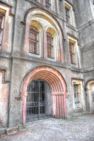 Photograph - Main Entrance Old City Jail Door by Dale Powell
