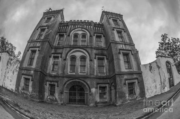 Photograph - Old City Jail In Fish Eye by Dale Powell