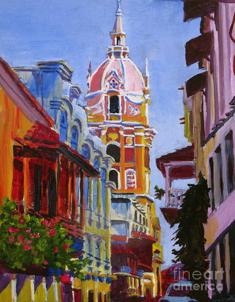 Cartagena Painting - Old City Of Cartagena Colombia by Matt Connors