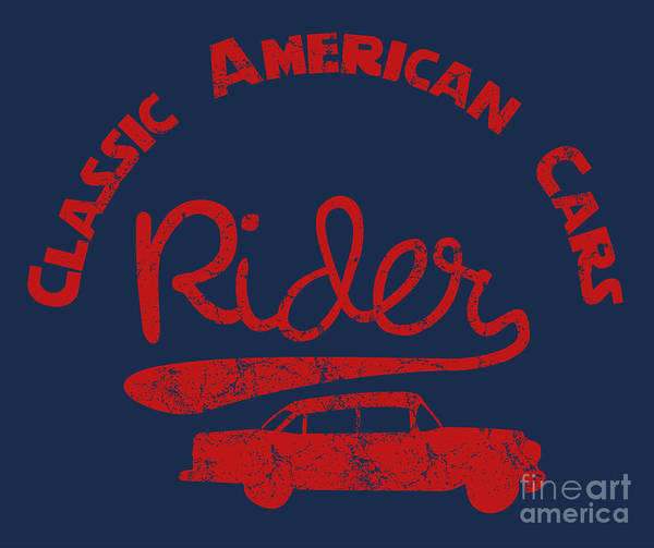 Decorative Digital Art - Old Classic American Car Havana Cuba by A1vector
