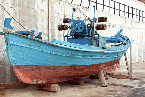 Greece Photograph - Old Colorful Fishing Boat Next To A by S-eyerkaufer