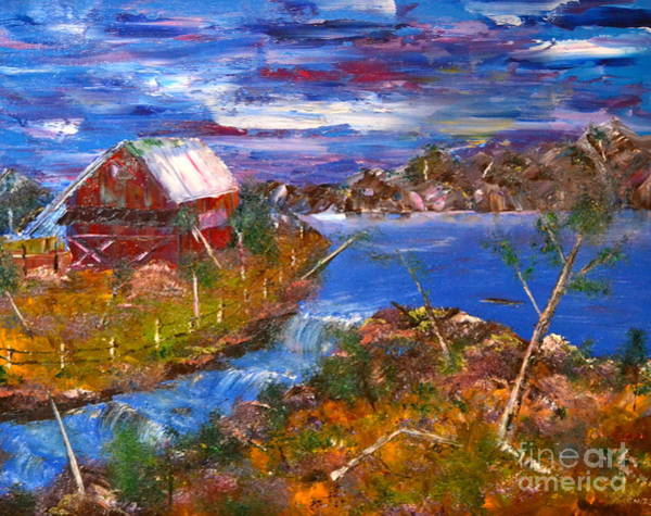 Painting - Old Country Barn by Denise Tomasura