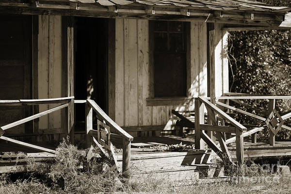 Photograph - Old Country House In Black And White Sepia 3000.01 by M K Miller