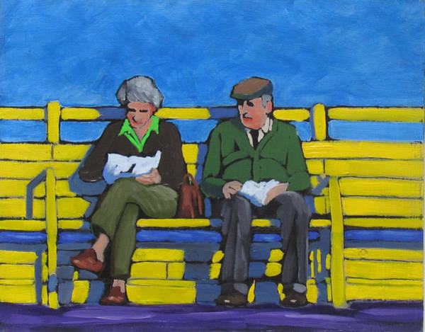 Painting - Old Couple by Kevin Hughes