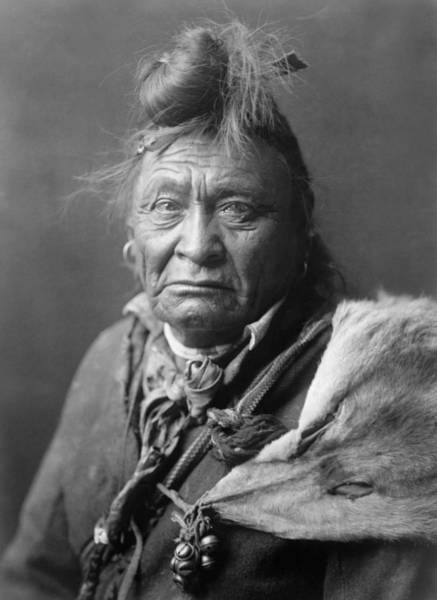 Indigenous Wall Art - Photograph - Old Crow Man Circa 1908 by Aged Pixel