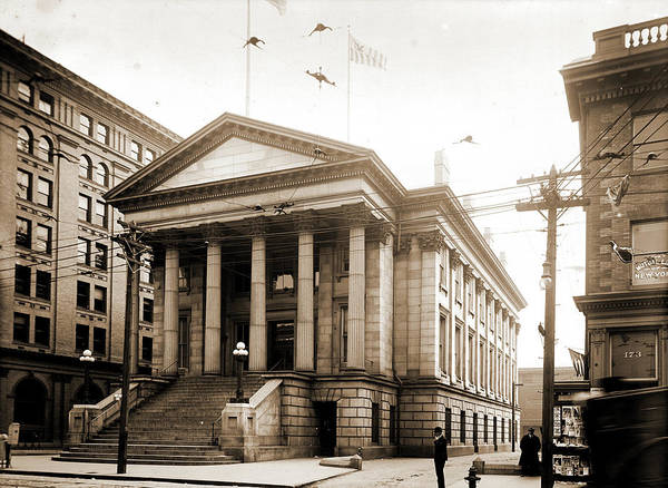 Norfolk Va Wall Art - Drawing - Old Custom House, Norfolk, Va, United States Customs House by Litz Collection