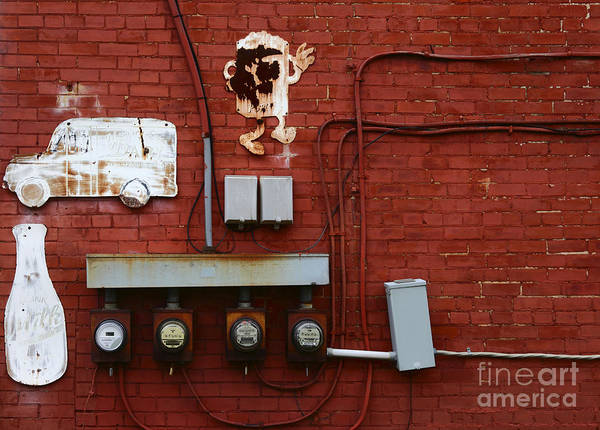 Photograph - Old Dairy Wall 1 by James Brunker