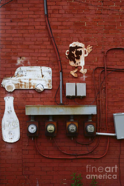Photograph - Old Dairy Wall 2 by James Brunker