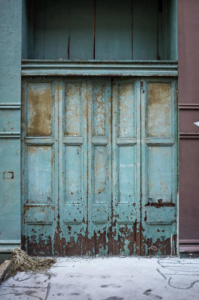 Multi-dimensional Wall Art - Photograph - Old Distressed Shutters by Spiderstock