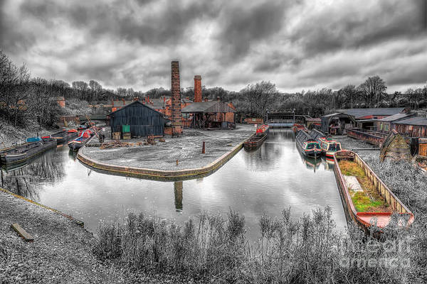 Narrow Boat Wall Art - Photograph - Old Dock by Adrian Evans