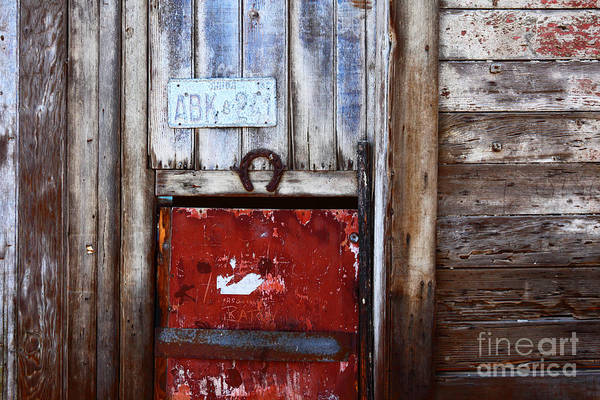 Photograph - Lucky Old Door 1 by James Brunker