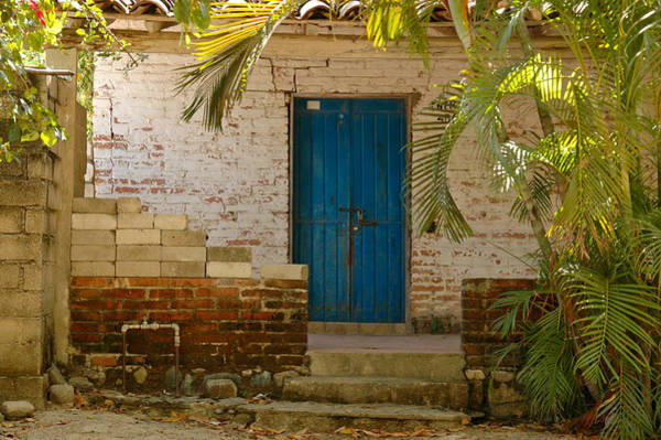 Photograph - Old Door And Porch In Santa Maria Huatulco. Mexico. by Rob Huntley