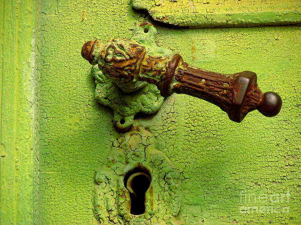 Photograph - Old Door Handle by Alexa Szlavics