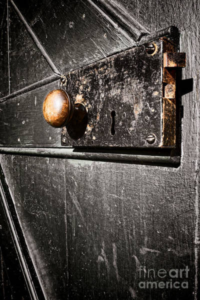 Latch Wall Art - Photograph - Old Door Lock by Olivier Le Queinec